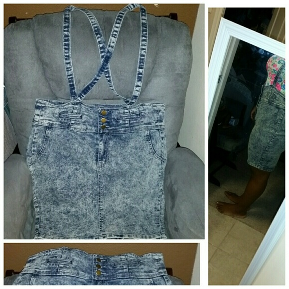 dd5a94806a Forever 21 Dresses   Skirts - Jumper PLUS SIZE 2in1 denim overall   pencil  skirt