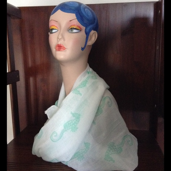 71 Off Accessories Mint Green Seahorse Infinity Scarf