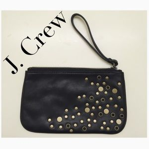 J. Crew leather wristlet
