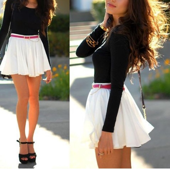 White Flowy Mini Skirt M from Lindsey's closet on Poshmark