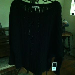 NWT Black Cable Knit Mohair Sweater Juicy Couture