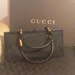 Vintage Gucci  Blk monogram Doctor's Bag