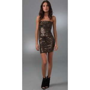 Alice + Olivia Brown Sequin Dress