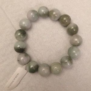 Jewelry - Natural Untreated spinach jade stretch bracelet