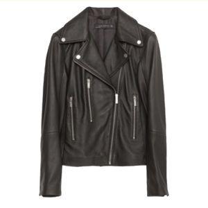 Zara 100% leather jacket size medium