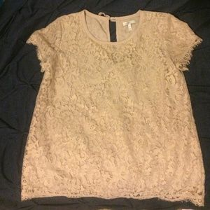 Joie lace cream top