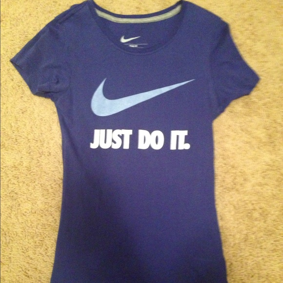 89 Off Nike Tops Purple Nike Shirt Just Do It From