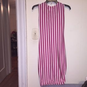 Weirdo ink Dresses & Skirts - PINK & WHITE STRIPED DRESS