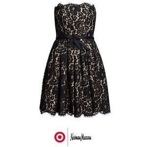 {HP} NEW black lace strapless dress Neiman Target