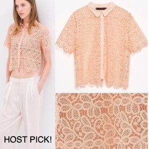 Zara Tops - ❤️HOST PICK!❤️ Zara Lace Top