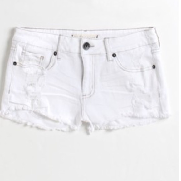 86% off PacSun Pants - PacSun White Cutoff Shorts from !kaleena's ...