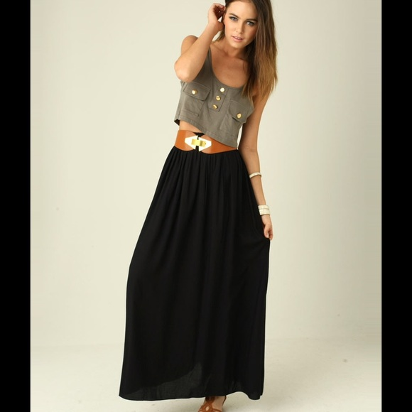 26 off ab studio dresses skirts black maxi dress from