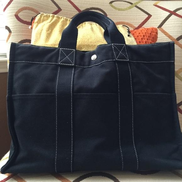 Hermes Handbags - Authentic Hermes bag canvas tote bag 31e199a0392fa