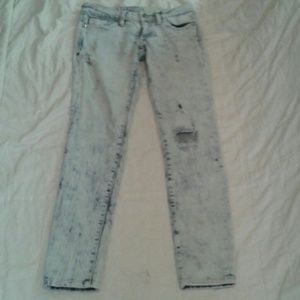Pants - Bleached destroyed Express studded Skinnies 3
