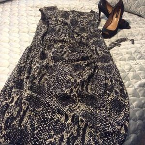 ANN TAYLOR ANACONDA PRINT DRESS