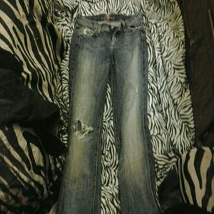 7 for all mankind ripped knee jeans