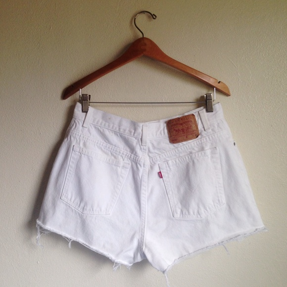 71% off Levi's Denim - SALE Levi's High Waisted Denim Shorts White ...