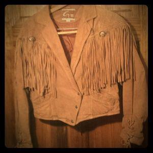 Jackets & Blazers - G leather 111...suede fringe brown jacket