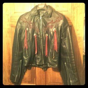Outerwear - Gypsy leather biker jacket