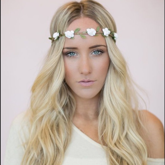 Accessories flower headband white floral crown boho coachella flower headband white floral crown boho coachella mightylinksfo
