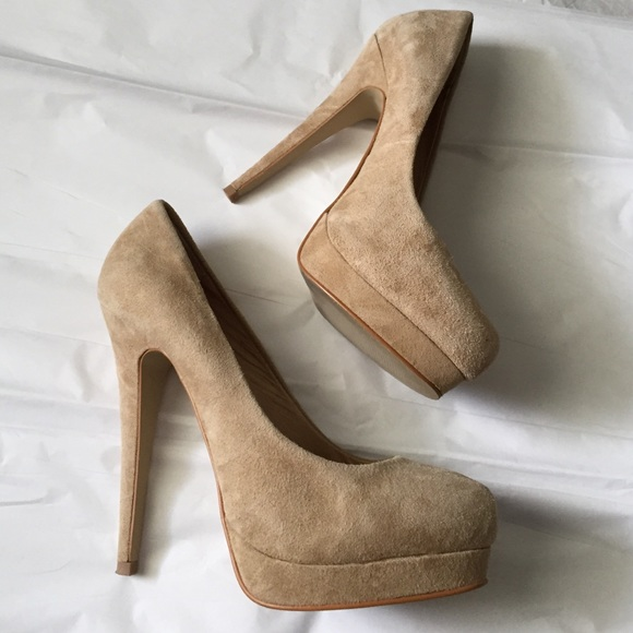 ALDO - ALDO suede Nude heels! from Amber's closet on Poshmark
