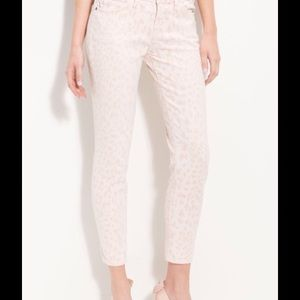 CURRENT/ELLIOTT STILETTO PINK ANIMAL PRINT JEANS