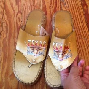 Custom Shoes - ITALIAN LEATHER TEXAS SANDALS
