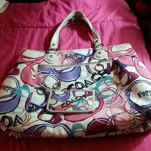 Authentic Coach Poppy bag with matching coin purse
