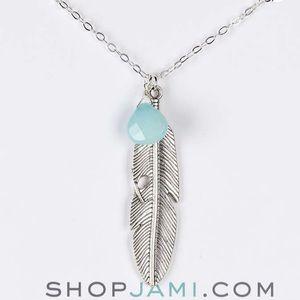 Jami Jewelry - Amazonite Feather Necklace. Price Firm.