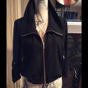 Cache Jackets & Blazers - Cache- 3/4 Sleeve, Drawstring Waist, Gold Zipper