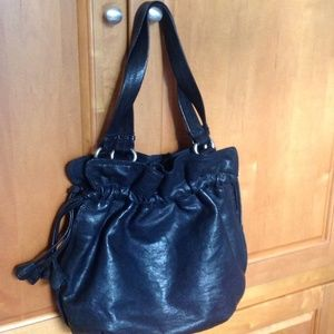 Authentic Lucky Brand Handbag. Black Leather.