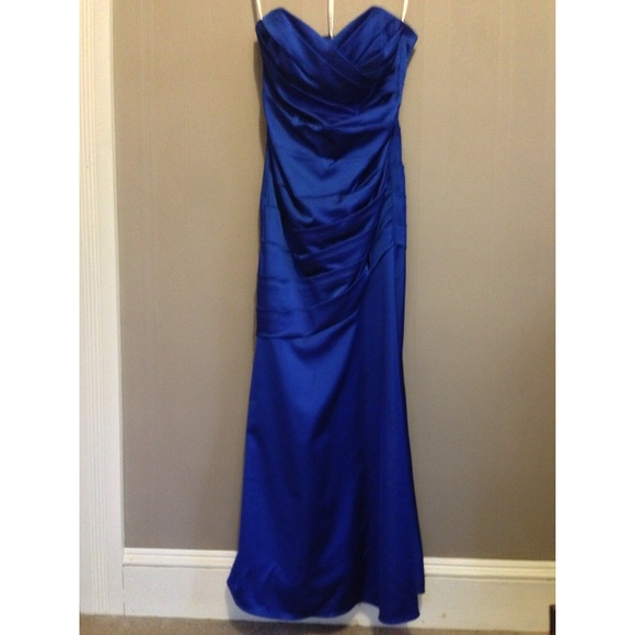 Davids Bridal Dresses Royal Blue Prombridesmaid Dress By Davids