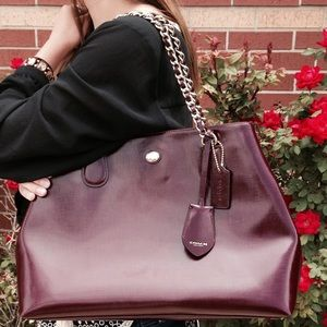 SALE!❤️NWT Coach Sherry Red Leather Chain Tote