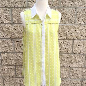 Lime Green Sleeveless Top