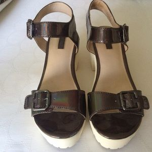 2dee1fa3b86b Topshop Shoes - Topshop holographic platform sandals