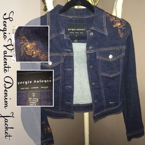 🎉HP Sergio Valente Embroidered Denim Jacket Med.
