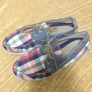‼️Price✂️‼️Sperry Top-Sider plaid boat shoes