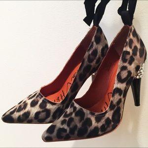 Lanvin x H&M 2010 collab animal print heels