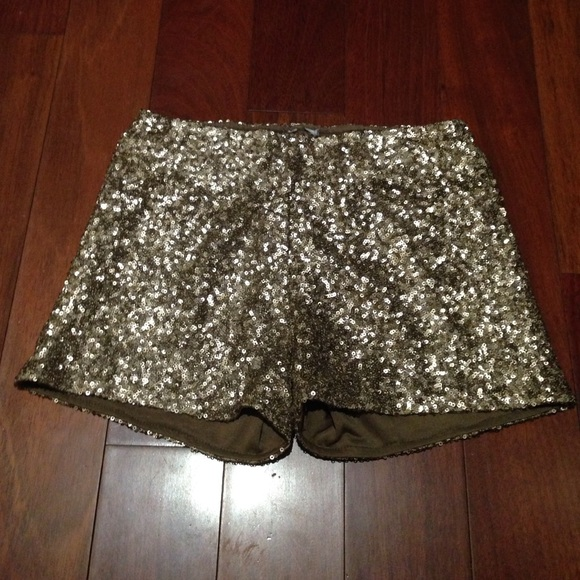 38% off Pants - high waisted gold sequin shorts SOLD from G's ...