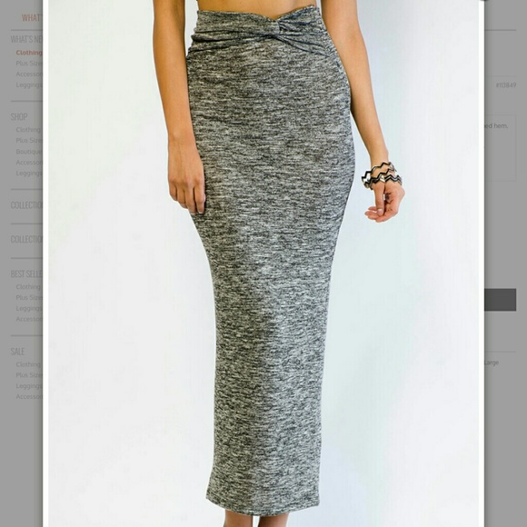 knot maxi skirt s from s closet on poshmark