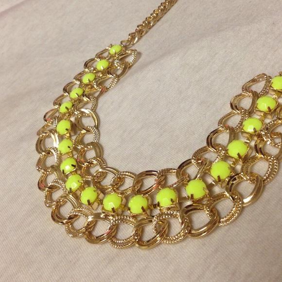 71 aldo jewelry aldo accessories yellow statement