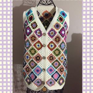 HOST PICKHandmade Colorful Crochet Vest