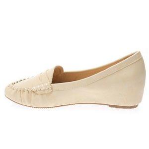 1019c886284 Miracle Mile Shoes - NIB beige hidden wedge heel penny loafers US 5-10