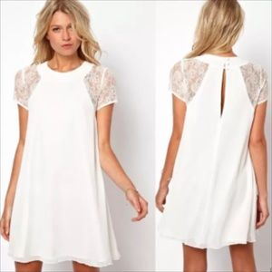 Tops - Loose lace sleeve tunic