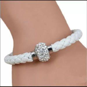 Jewelry - White leather bracelet