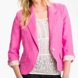 Gibson Jackets & Blazers - Pink Linen Blazer
