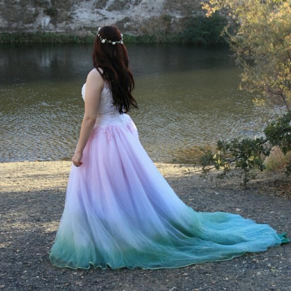 Dresses | Tie Dye Fairytale Princess Wedding Dress | Poshmark