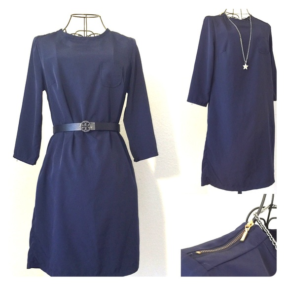 Dark Blue Straight Dresses