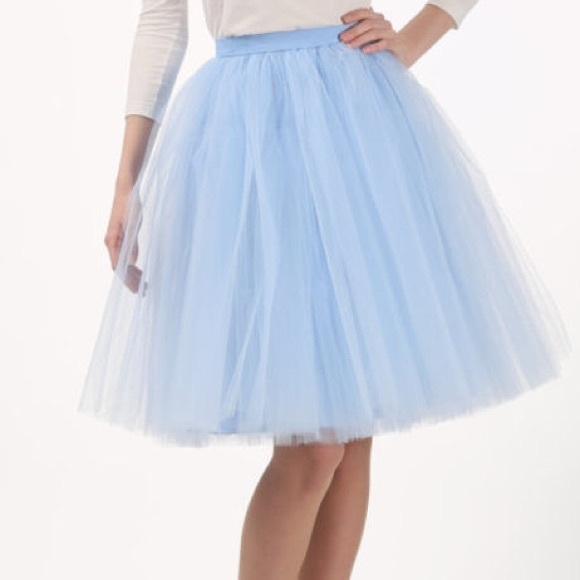 Baby Blue Tutu Dress Baby Blue Tulle Skirt / Tutu