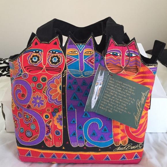 57% off Laurel Burch Handbags - Laurel Burch Cat Bag from Lauren's ...